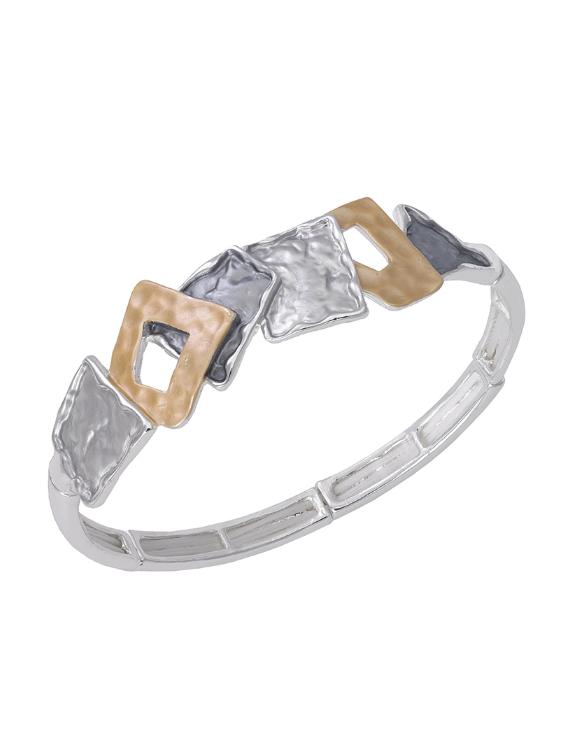 Pulsera ANTONELLI 660300 Metal Antialérgico Plateado y Dorado Mujer