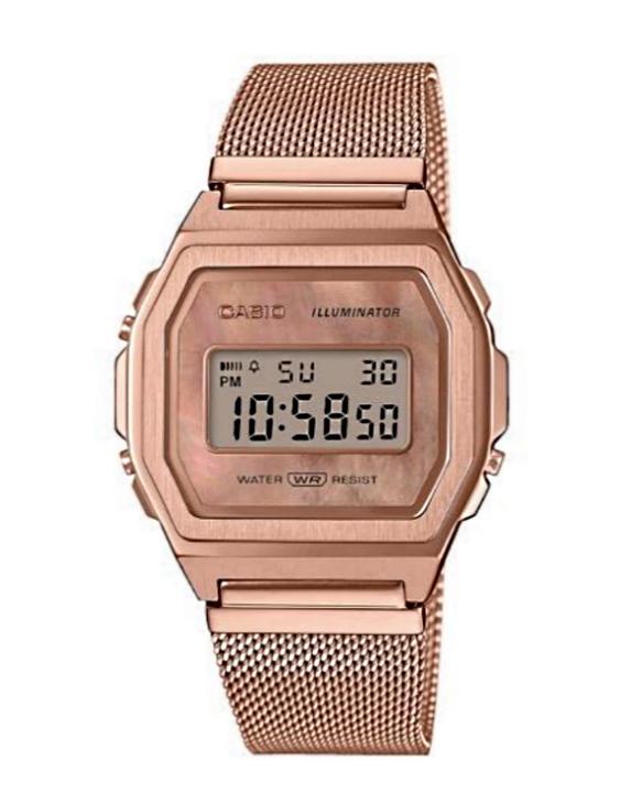 Reloj CASIO A1000MPG-9EF VINTAGE Digital Acero IP Rosa Mujer