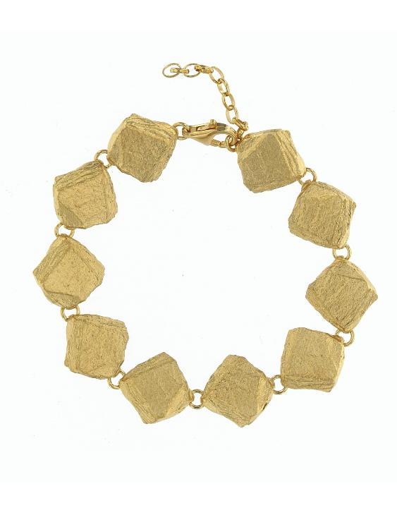Pulsera PURM044G Plata con Baño de Oro Mujer