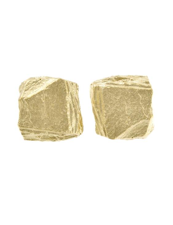Pendientes ARRM044PG Plata con Baño de Oro Mujer. Cierre Presión.