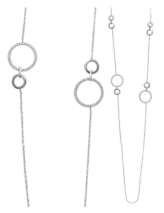 Collar SALVATORE 164C0031 Plata con Circonitas Mujer