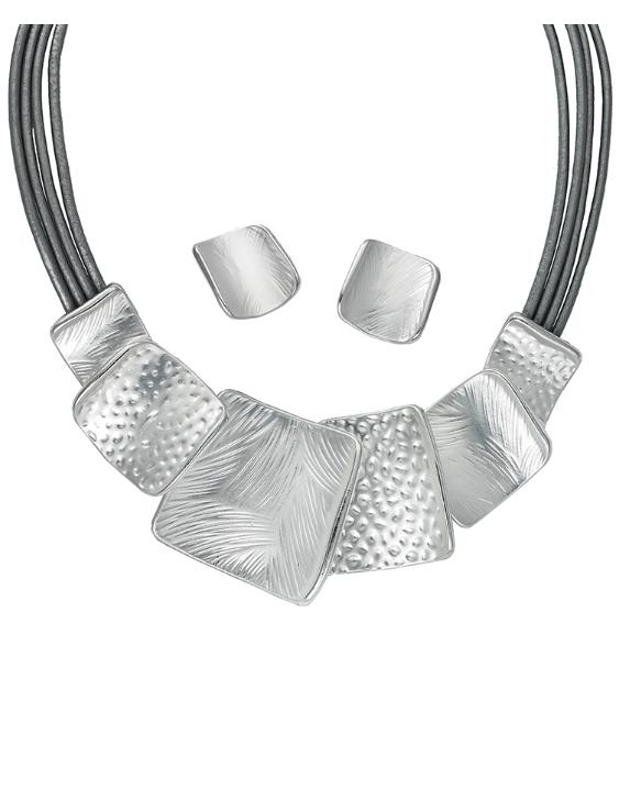 Collar y Pendientes ANTOLELLI 670270 Metal Antialérgico Plateado Mujer