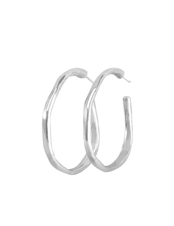 Pendientes UNO DE 50 PEN0419MTL0000U metal bañado plata 15 micras. Cierre Presión.