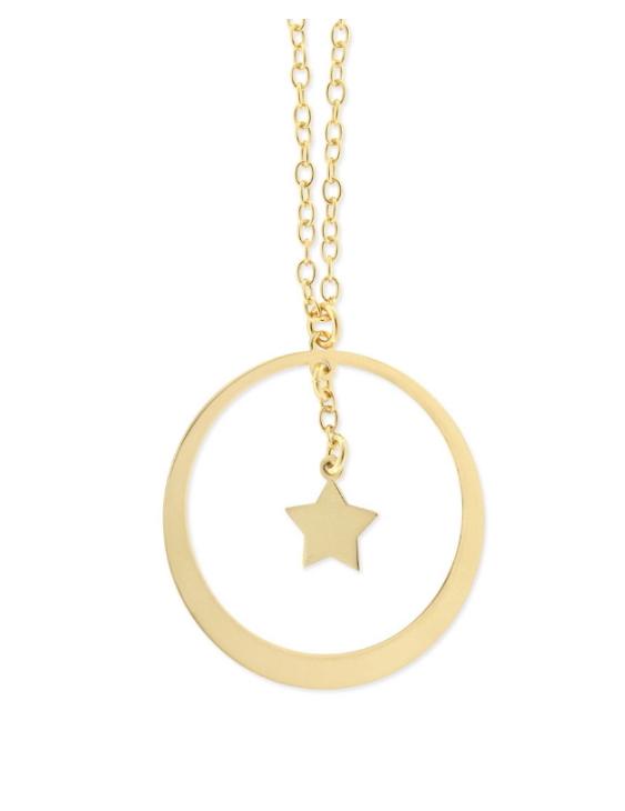 Collar LISKA LAT1010CL-D Plata con Baño de Oro Mujer
