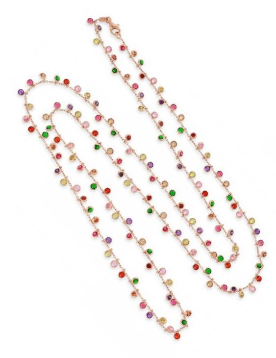 Collar LISKA LAD1099CL-R Plata con Baño de Oro Rosa y Circonitas Color Mujer