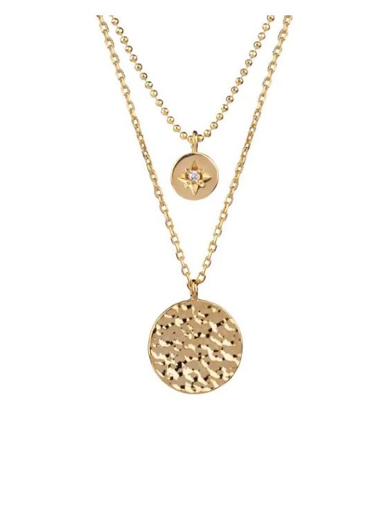 Collar VIDAL&VIDAL X4547140 Metal Antialérgico con Baño de Oro y Circonita Mujer