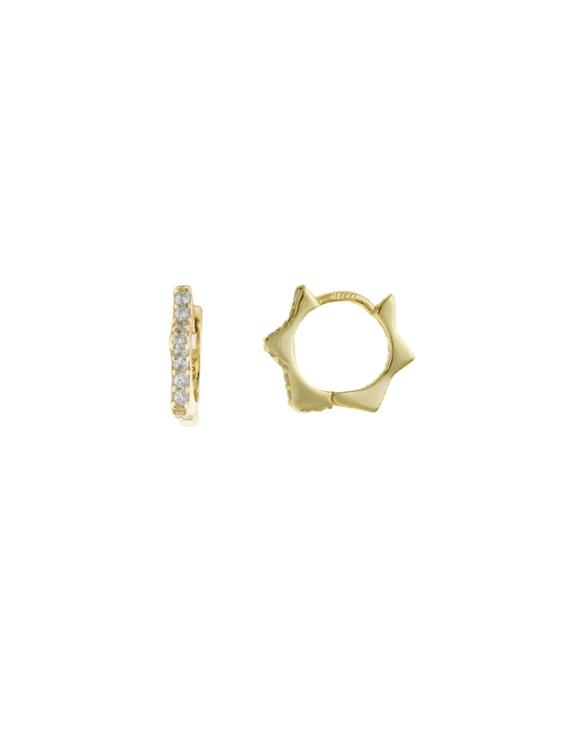 Pendientes SALVATORE 213A0275 Plata con Baño de Oro Mujer
