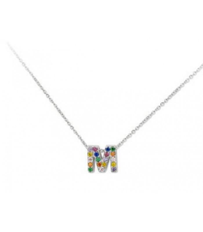 Collar LISKA LET02CL-M Letra de Plata con Circonitas Mujer