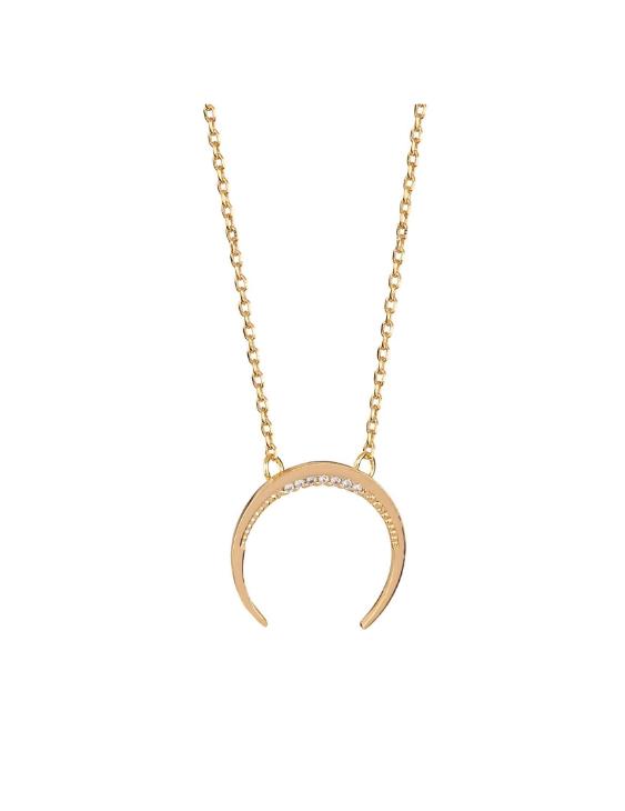 Collar VIDAL&VIDAL X4556940 Metal Antialérgico con Baño de Oro con Circonitas Mujer