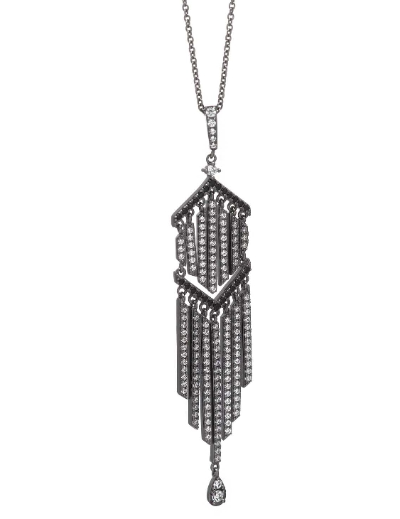 Collar SALVATORE 136C0154 Plata Rutenio con Circonitas Mujer