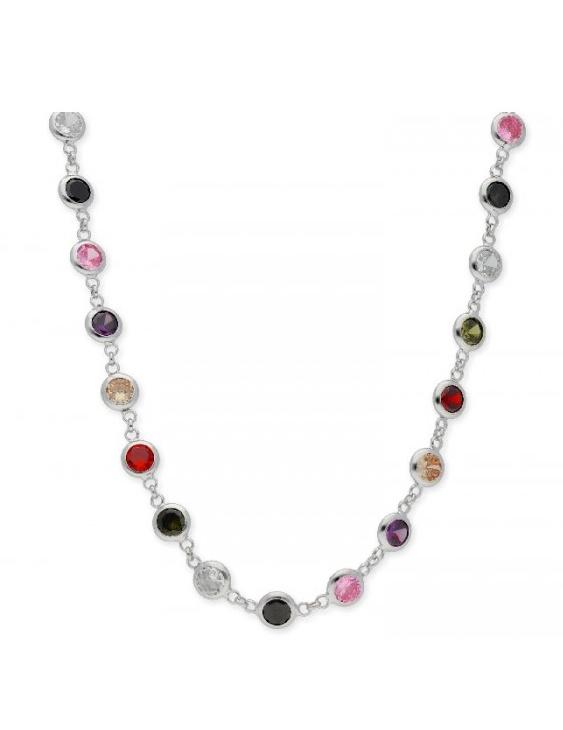 Collar LISKA LAD1097CL Plata Circonitas Color Mujer