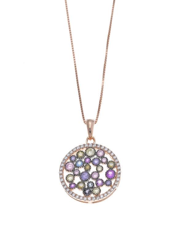 Collar SALVATORE 211C0005 Plata Chapado Oro Rosa con Circonitas Color Mujer