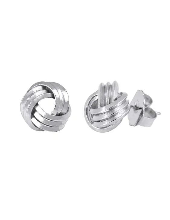 Pendientes VIDAL&VIDAL Q3301 Metal Antialérgico con Baño de Plata Mujer