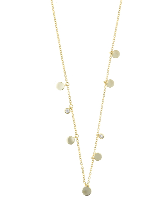 Collar SALVATORE 213C0096 Plata con Baño de Oro y Circonitas Mujer.
