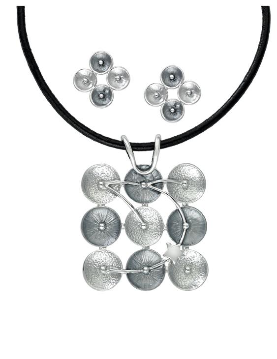 Collar y Pendientes ANTOLELLI 670277 Metal Antialérgico Plateado Mujer
