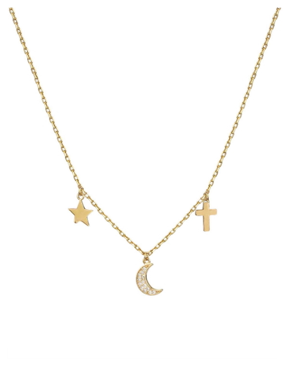 Collar VIDAL&VIDAL X4612938 Metal Antialérgico con Baño de Oro Mujer