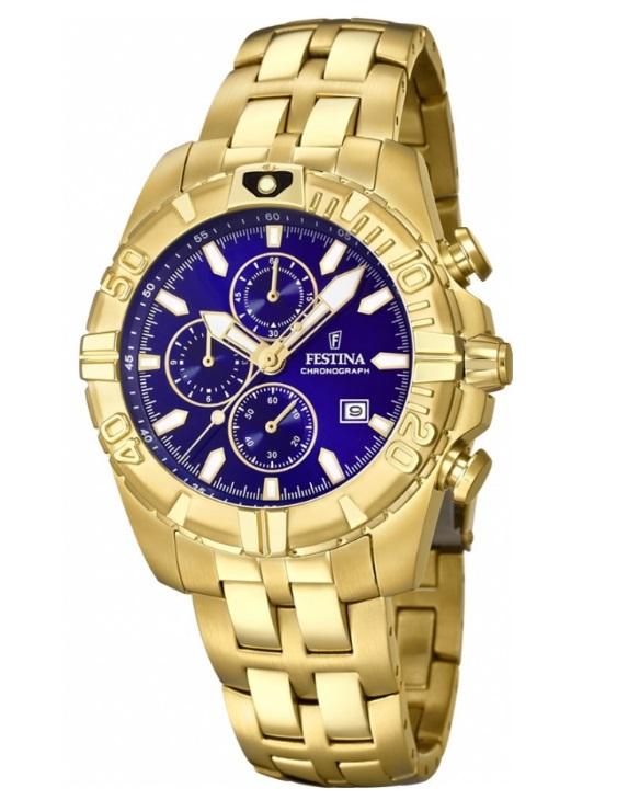 Reloj FESTINA F20356/3 CHRONO BIKE Cronografo Acero IP Dorado Hombre