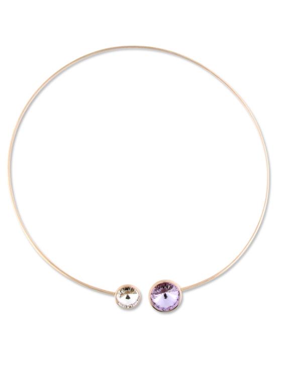 Collar LISKA SWAROVSKI ELEMENTS LSW2080CL Plata con Baño Oro Rosa Mujer
