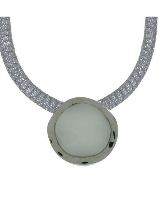 Collar ANTONELLI 750026 Plata con Onix Mujer
