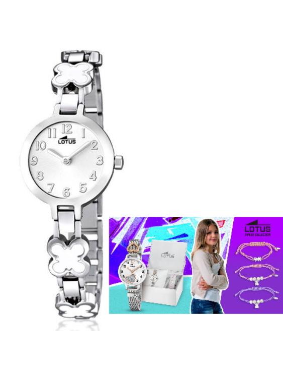 Reloj LOTUS 15828/1 y Pulsera Plata de Regalo Niña