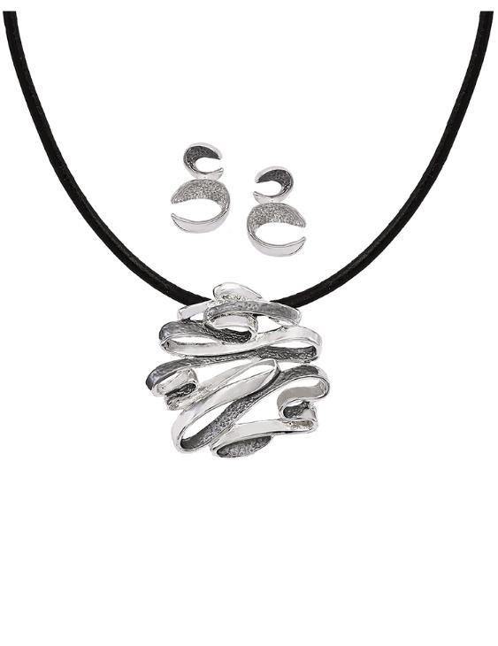 Collar y Pendientes ANTOLELLI 670245 Metal Antialérgico Plateado Mujer