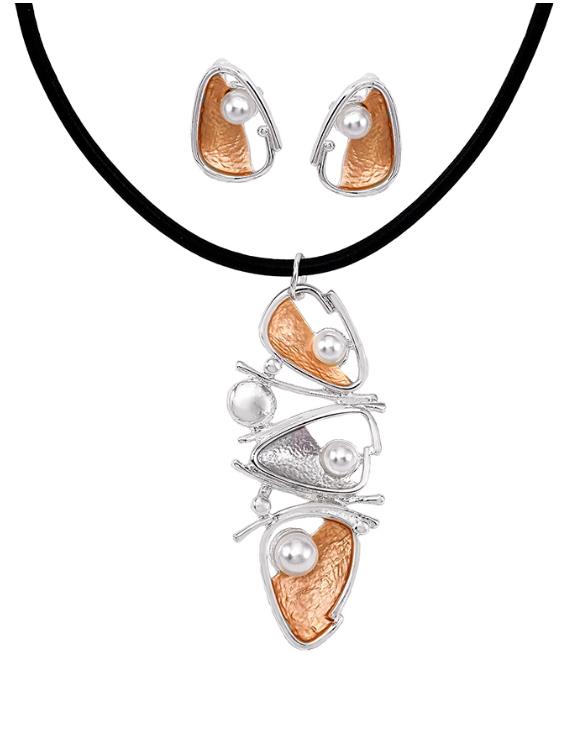 Collar y Pendientes ANTOLELLI 67051 Metal Antialérgico Dorado y Plateado Mujer