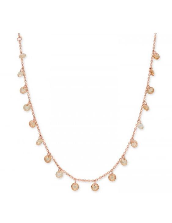 Collar LISKA LAF6126CL-R Plata con Baño de Oro Rosa y Circonitas Mujer