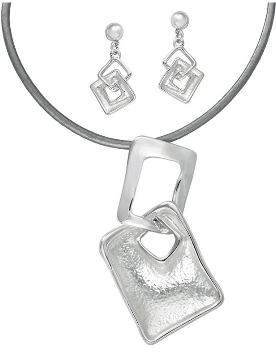 Collar y Pendientes ANTOLELLI 670268 Metal Antialérgico Plateado Mujer