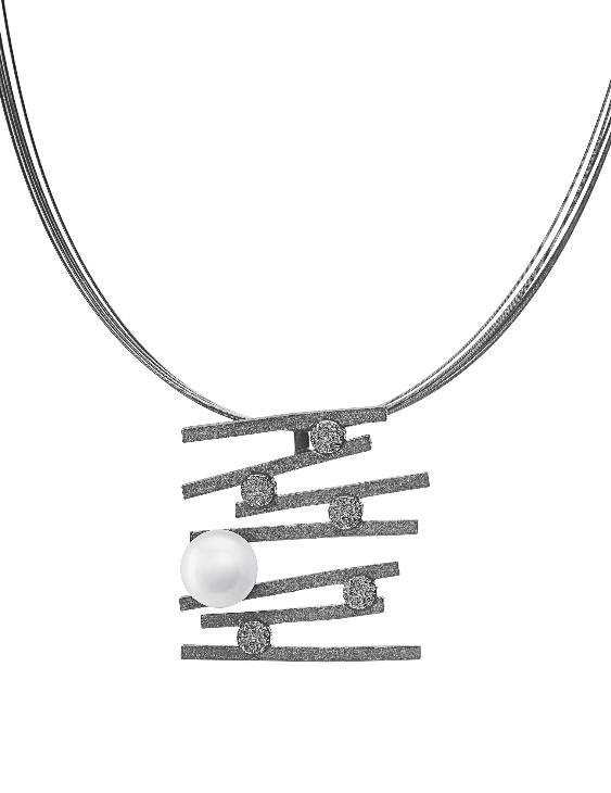 Collar ARQUE PE2139 Plata con Circonitas y Perla Mujer