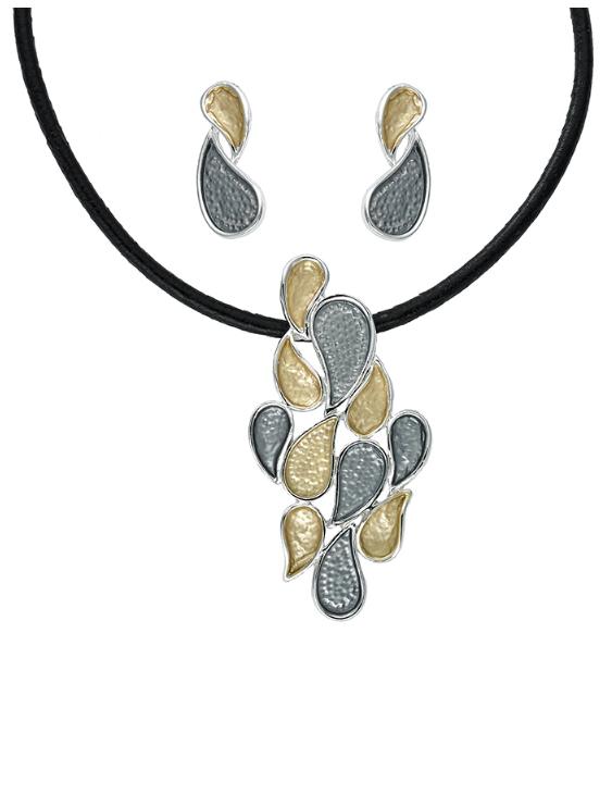 Collar y Pendientes ANTOLELLI 670275 Metal Antialérgico Dorado y Plateado Mujer
