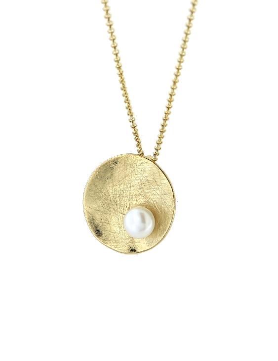 Collar VIDAL&VIDAL X4524239 Metal Antialérgico con Baño de Oro y Perla