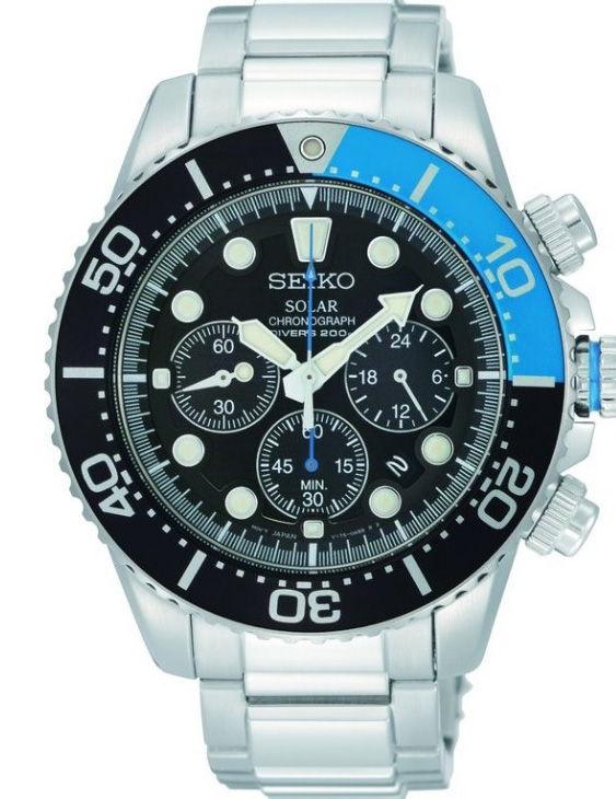Reloj SEIKO SSC017P1 SOLAR PROSPEX Cronografo Acero Hombre