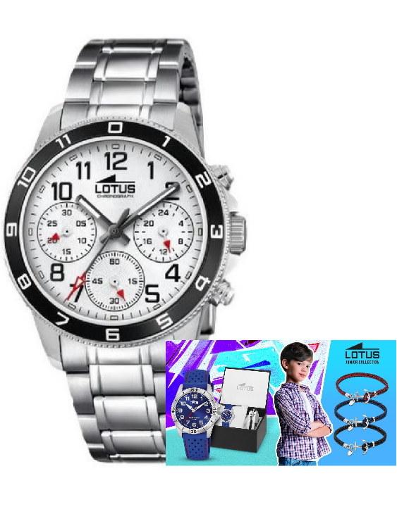 Reloj LOTUS 18580/1 y Pulsera Plata de Regalo Niño