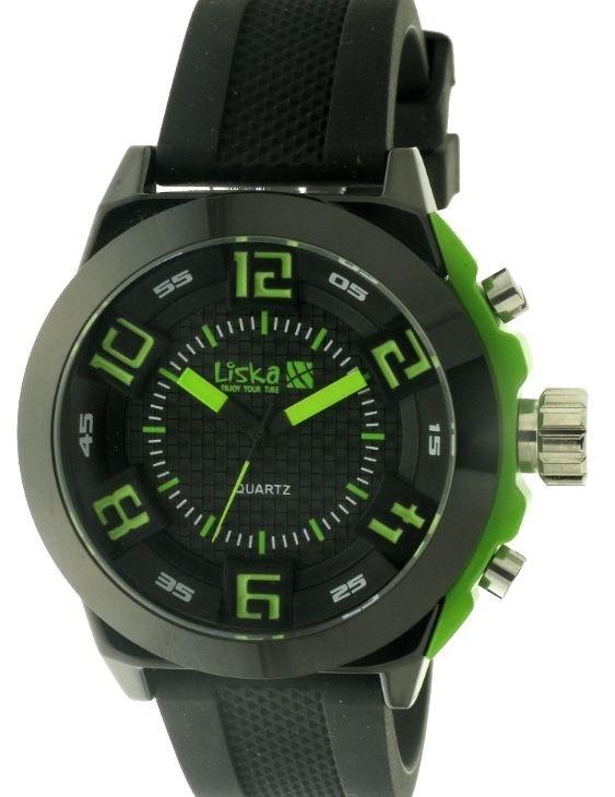Reloj LISKA LW1004-9 Acero con Correa Caucho Hombre