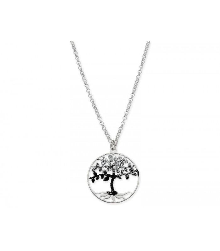 Collar LISKA LAF6098CL Plata con Circonitas Arbol de la Vida Mujer