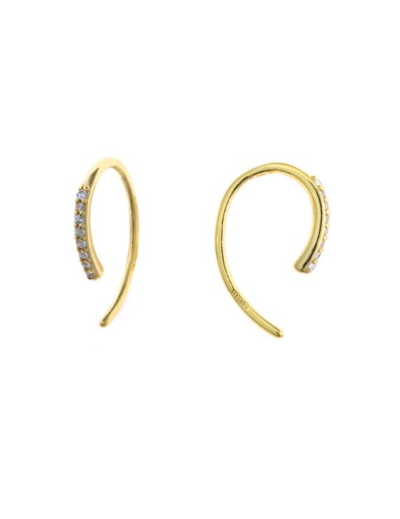 Pendientes SALVATORE 213A0295 Plata con Baño de Oro y Circonitas Mujer