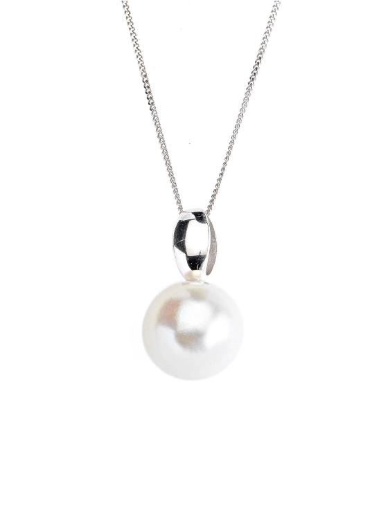 Collar SALVATORE 144C0027 Plata con Perla Mujer.