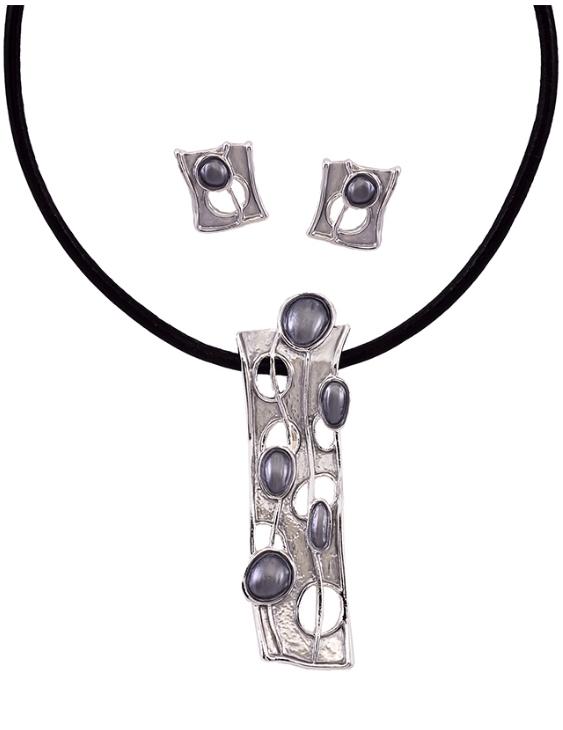 Collar y Pendientes ANTOLELLI 670246 Metal Antialérgico Plateado Mujer