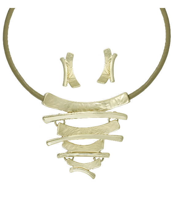 Collar y Pendientes ANTOLELLI 670287 Metal Antialérgico Dorado Mujer