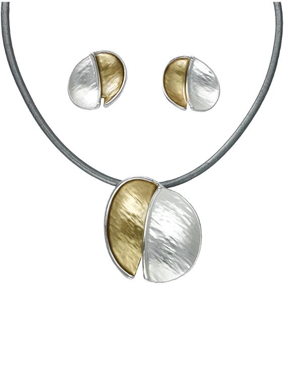 Collar y Pendientes ANTOLELLI 670263 Metal Antialérgico Dorado y Plateado Mujer