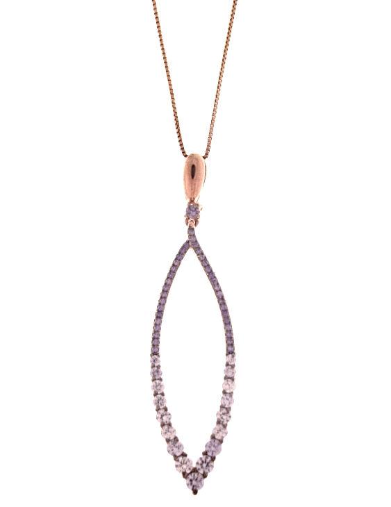 Collar SALVATORE 112C0074 Plata Chapado Oro Rosa Circonitas Color Mujer