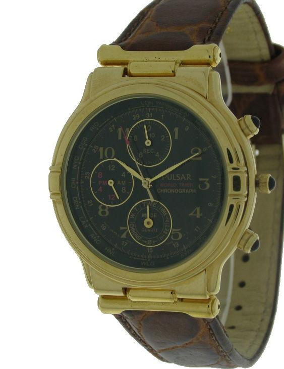Reloj PULSAR PWR040 Multifuncion Correa Piel Hombre