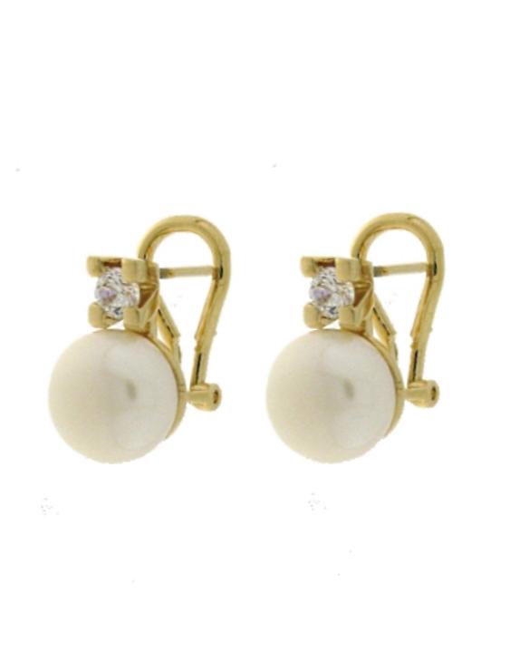 Pendientes VIDAL&VIDAL G1158A Metal Antialérgico con Perlas Cultivadas Mujer