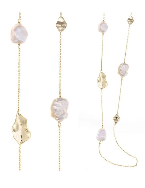 Collar SALVATORE Plata con Baño de Oro y Perlas Mujer