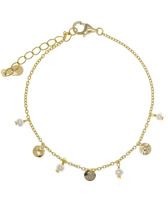 Pulsera SALVATORE 213P0017 Plata con Baño de Oro y Perlas Mujer
