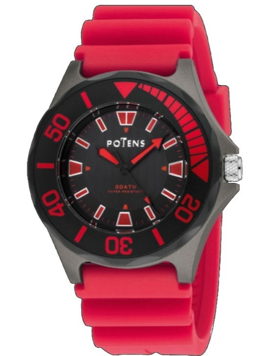 Reloj POTENS 40-2713-0-3 con Brazalete de Silicona Hombre