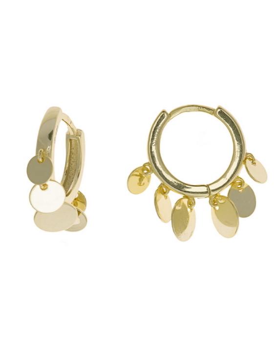 Pendientes SALVATORE 213A0165 Plata con Baño de Oro Mujer