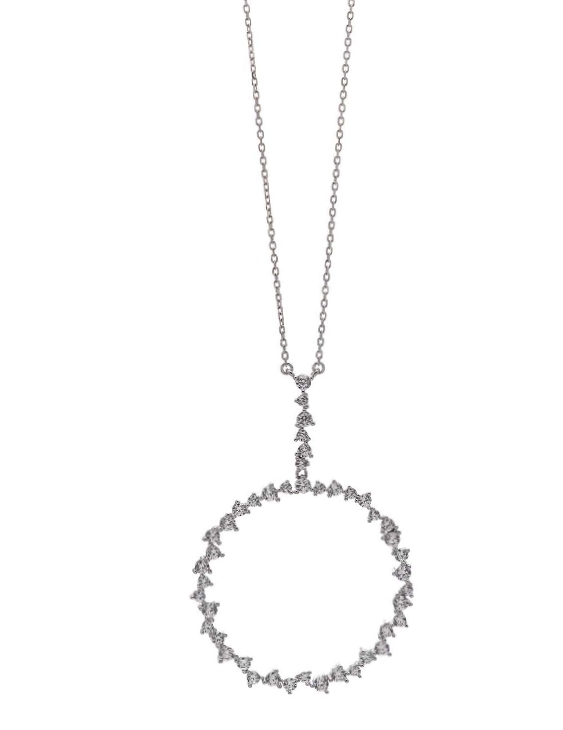 Collar SALVATORE 136C0132 Plata con Circonitas Mujer