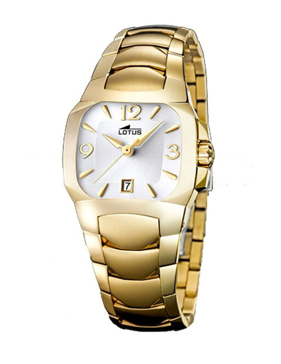 Reloj LOTUS 15518/4 CODE Brazalete Acero Chapado Oro Mujer