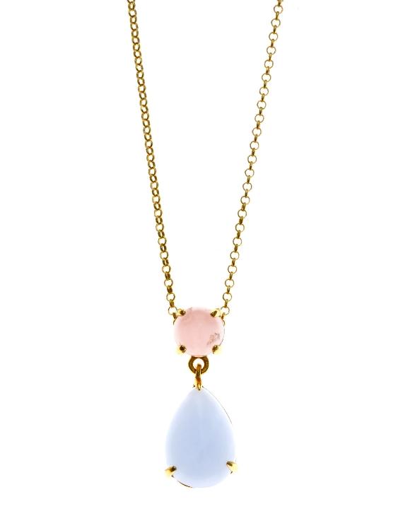 Collar SALVATORE 241C0021 Plata con Baño de Oro Mujer
